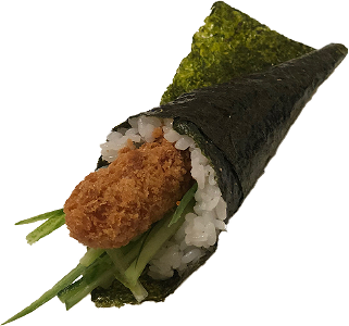 Foto Fried ebi temaki